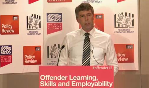 Richard Ward addresses delegates at the 8th Offender�s Learning, Skills and Employability Conference